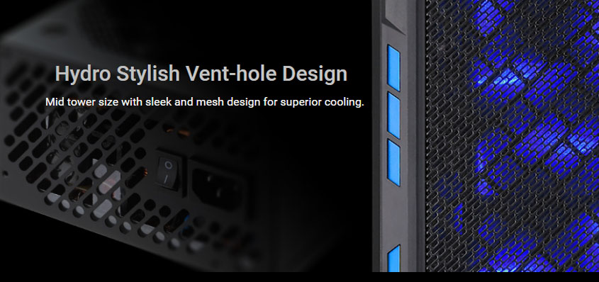 hydro stylish vent-hole design