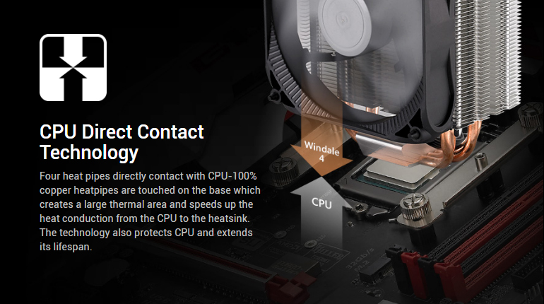 CPU Direct Contact Technology