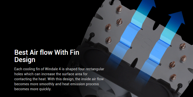 Best air flow with fin design