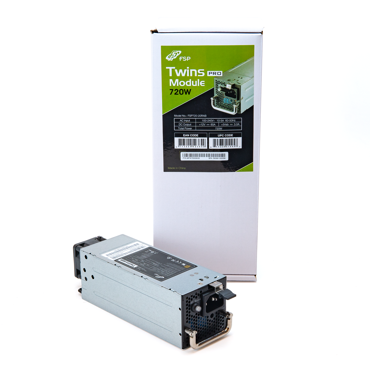 Twins Pro 720W Replacement Module for Twins Pro 700W PSU (FSP720-20RAB)