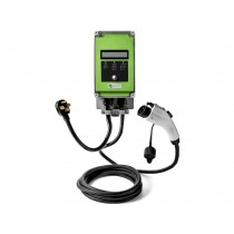 Ultra 32 Amp Electric Vehicle EV Charging Station J1772 NEMA 14-50 240V Level 2 18ft EVSE with Display- Lime