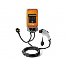 Ultra 32 Amp Electric Vehicle EV Charging Station J1772 NEMA 14-50 240V Level 2 18ft EVSE with Display- Orange